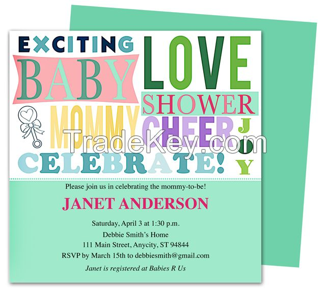 BabyTalk Shower Invitation Template