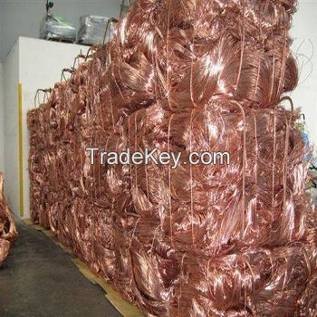 Copper Wire Scrap, Mill-berry Copper 99.9%