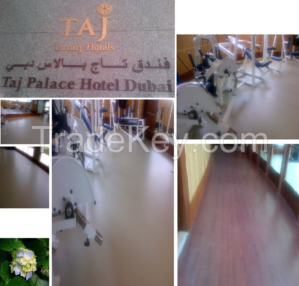 PVC Vinyl Flooring. Applications in school, office, gym, hotel and hospitals.