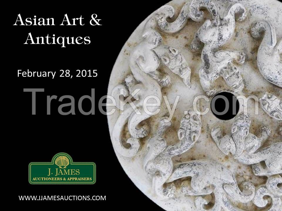 Culturally Important Collection of Chinese Jade To Be Auctioned w/ NO RESERVE