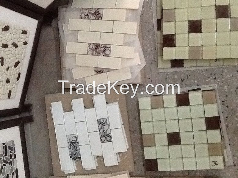 Ceramic tiles and mosaic production line, used 1 month.