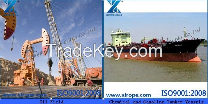 Manila rope used on chemical and gasoline tanker vessels