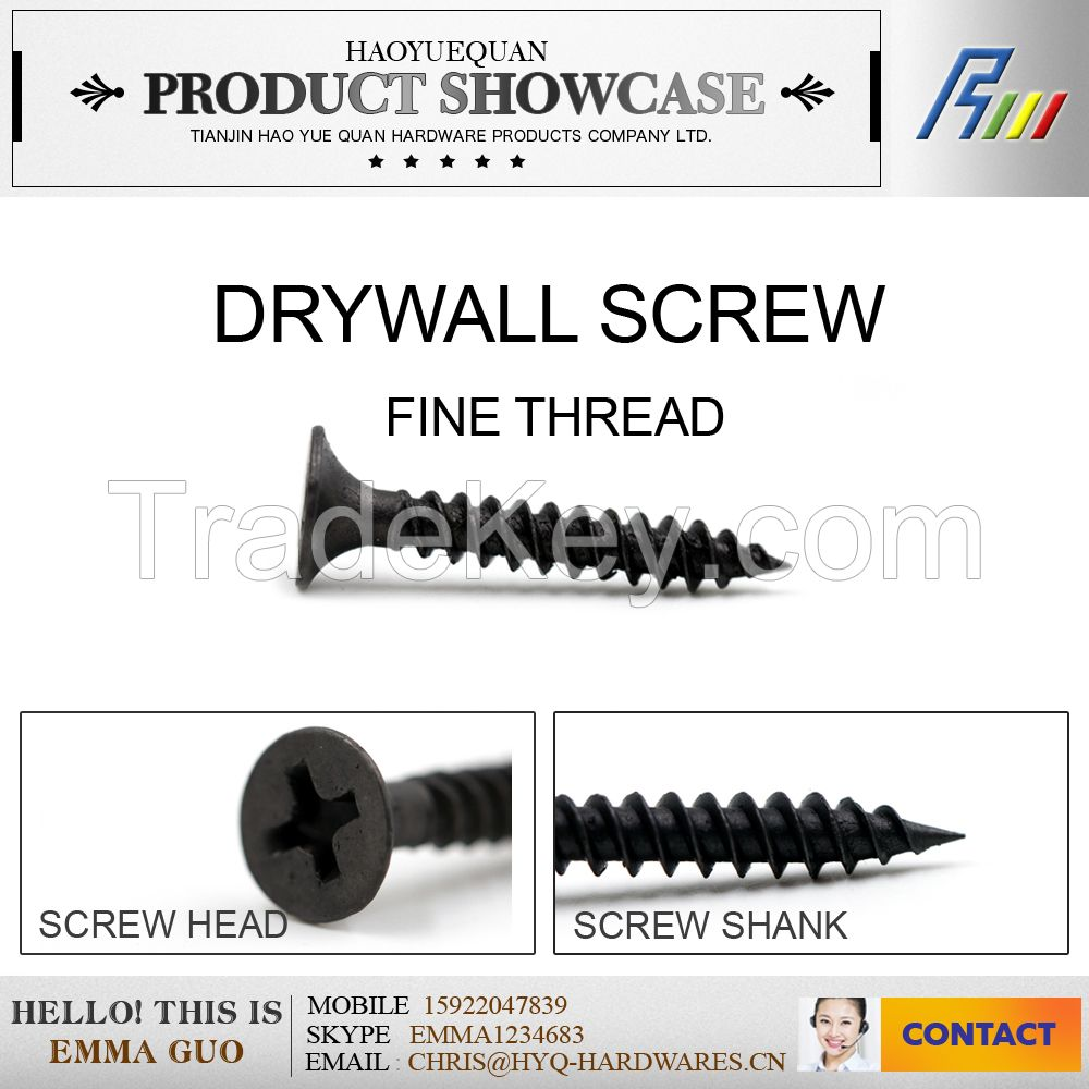 C1022 black/grey bugle philips drywall screw from china manufacturer