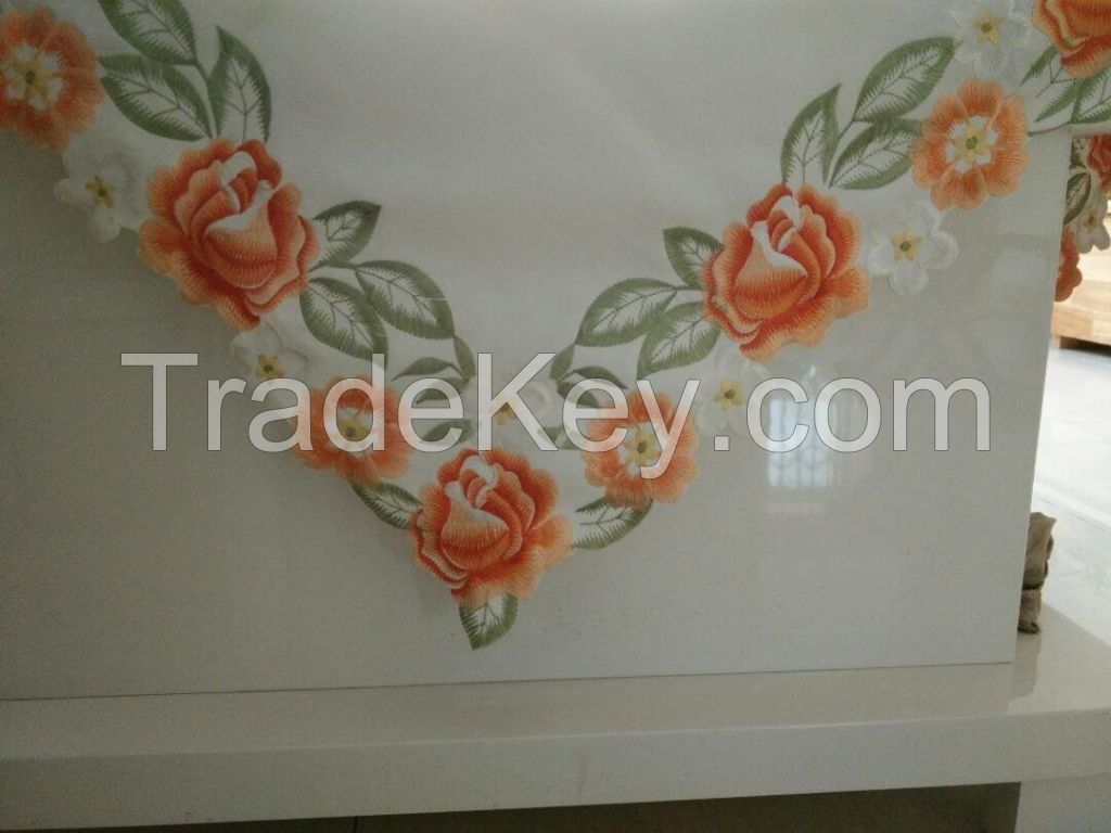 Embroidered table cloth tribute silk type 85*85
