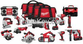 Free Shipping Milwaukee 2696-15 18V Cordless M18 Lithium Ion 15 Tool Combo Kit