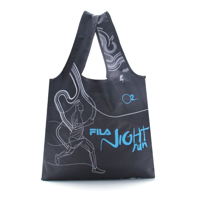 Customized 190T Foldable Polyester Tote Bag with Customer Logo