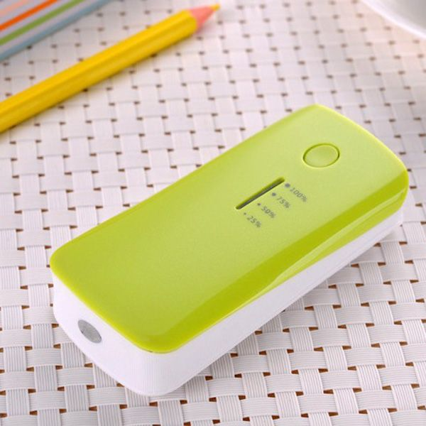 Fish Mouth Power Bank with LED Light Battery Charger 5200mAh
