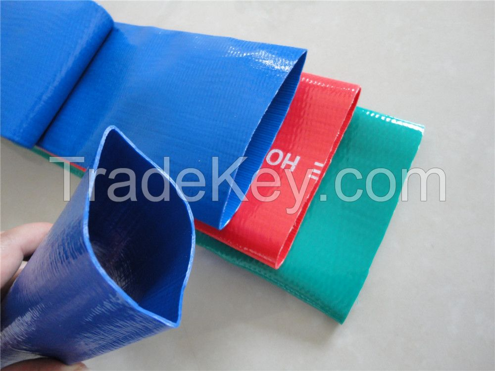 pvc layflat irrigation discharge hose from Weifang China factory