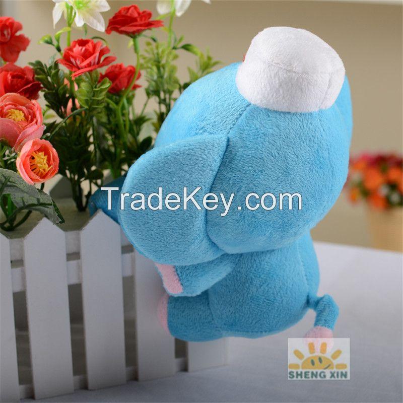 Animal Elephant Soft Fleece Stuffed Children Mini Blue Toys Gifts