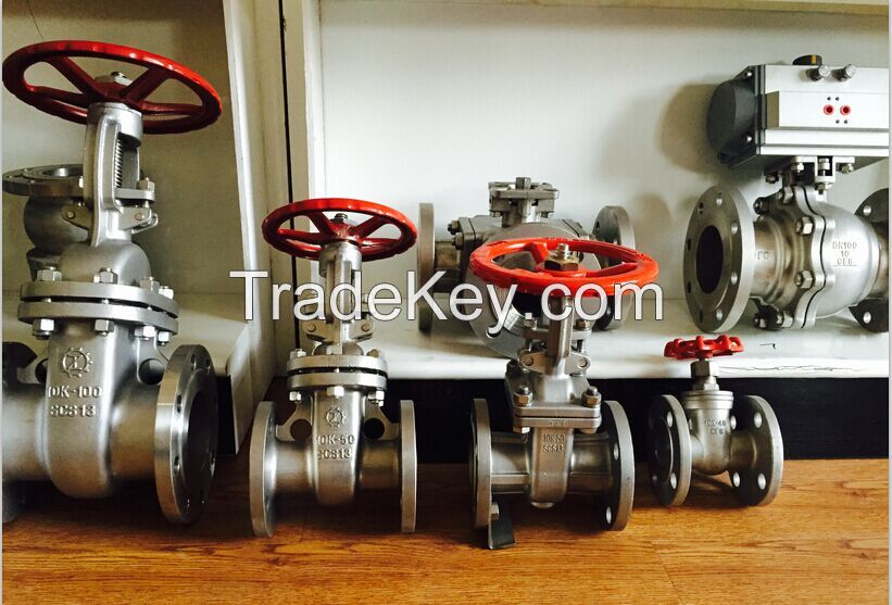 ANSI/JIS flanged gate valve , SS304/316 , A216 WCB
