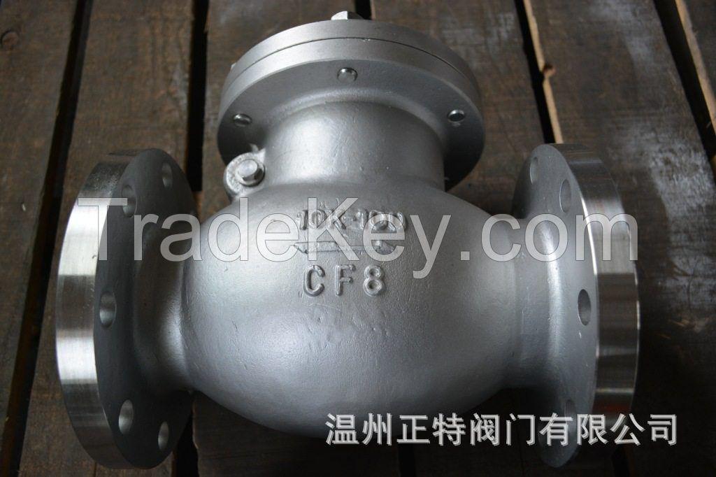 ANSI /JIS /  Flanged swing type check valve ,WCB/CF8/CF8M