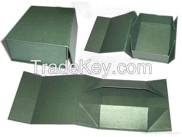 high quality Foldable gift paper box with magntic