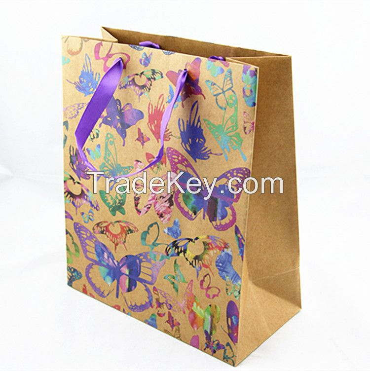 Accept Custom Order and Offset Printing Surface Handling brown paper bags