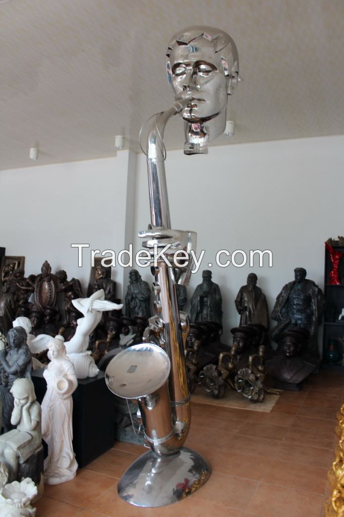 Stainless steel Human Statues mirror finish sculpture