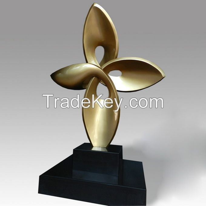 Stainless steel abstract art sculpture statues