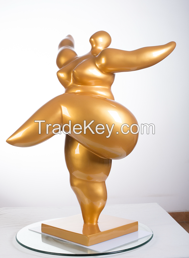 Fiberglass Resin Sculptures large size sculpture fat lady sculpture