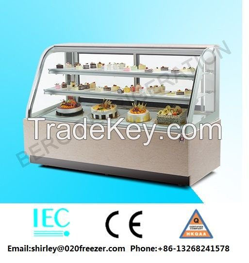Bakery used commercial display cake refrigerator showcase