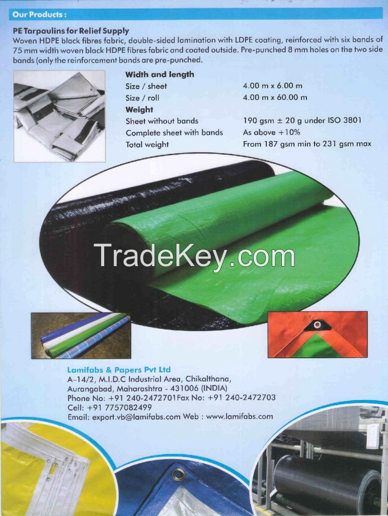 HDPE Tarpaulin and Fabrics