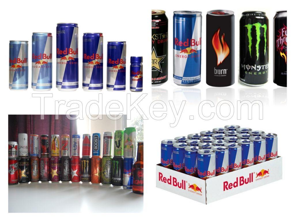 Best Quality and Taste Energy Drinks. Red-bull, Monster, Rock Star, Power Horse