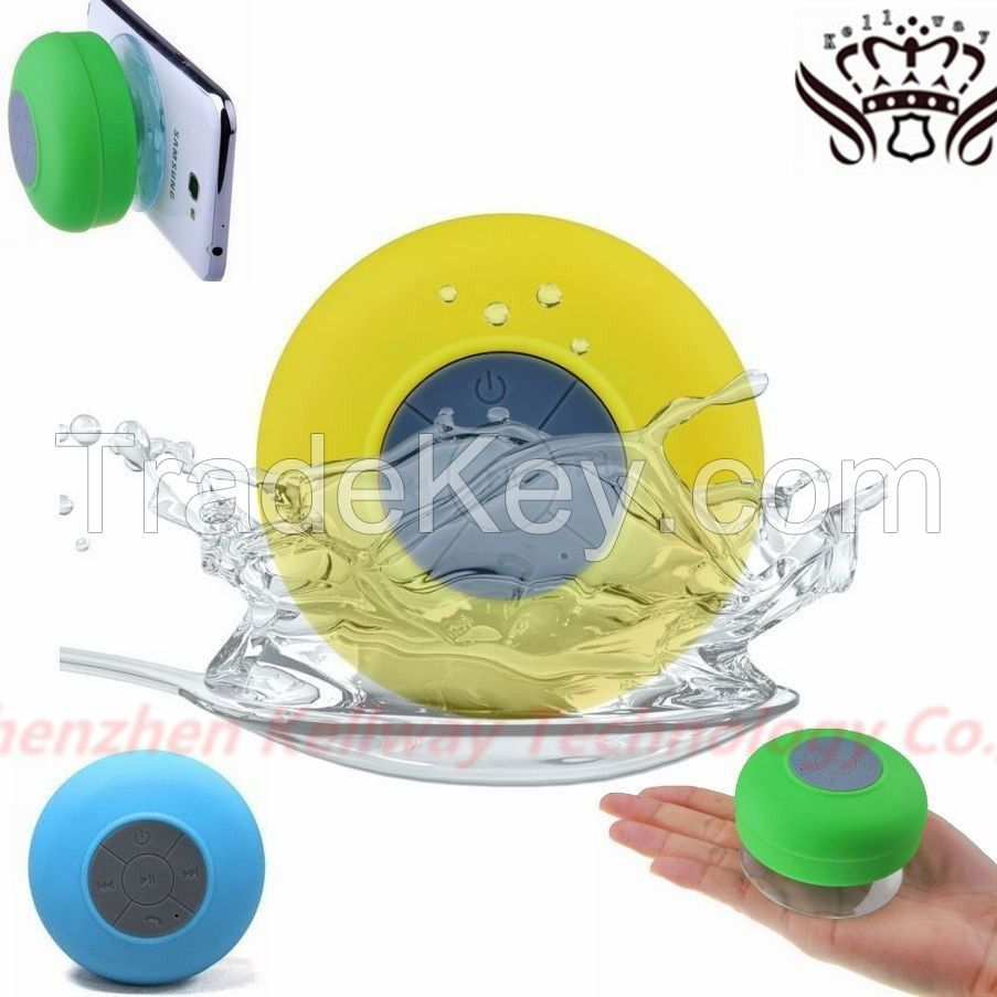 Portable waterproof Wireless Bluetooth shower Speaker with mic mini loudspeakers music car speakers sound box boombox for phone