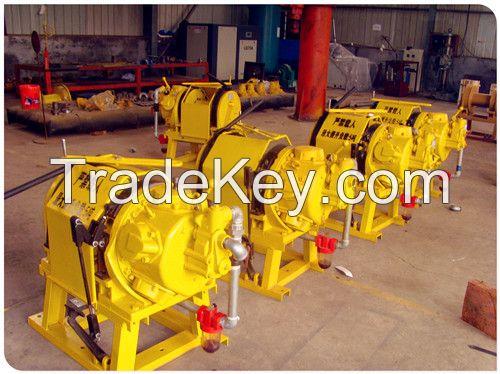 10 ton, 15 ton pneumatic driven air winch for mining, oil field, ships
