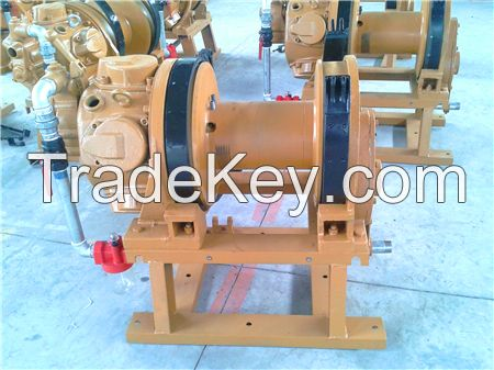 Chinese pneumatic tugger with hand brake and disk brake air winch ,wire rope guider 5 ton pneumatic tugger pneumatic winch