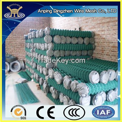High elasticity PVC coated chain link fence