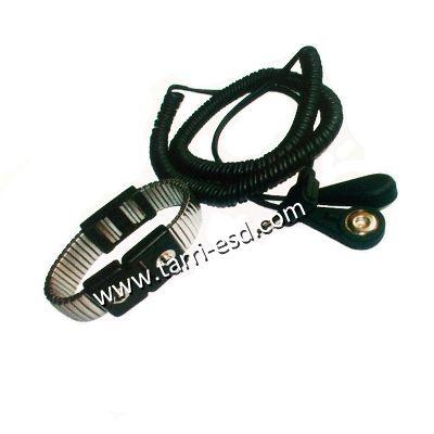 Dual wire ESD metal wrist strap