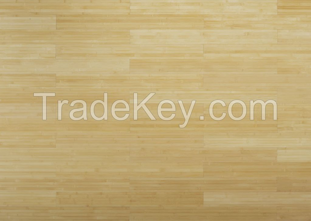 Horizontal bamboo flooring for indoor use