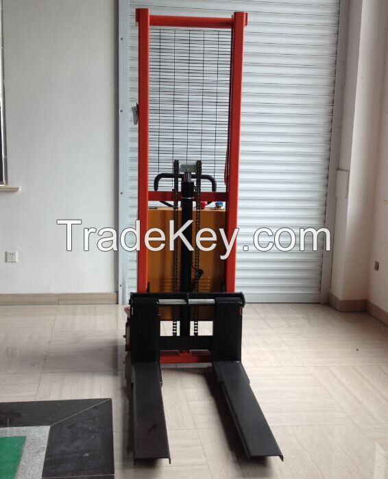 1000kg, 1600mm, Semi electric stacker