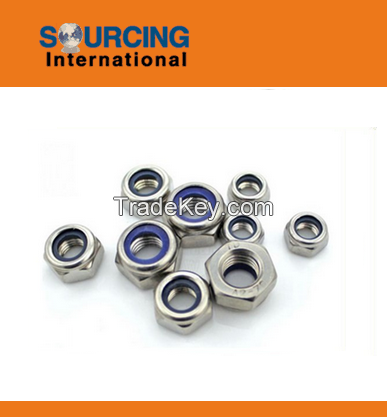 Nut with different sizes, materials and standards