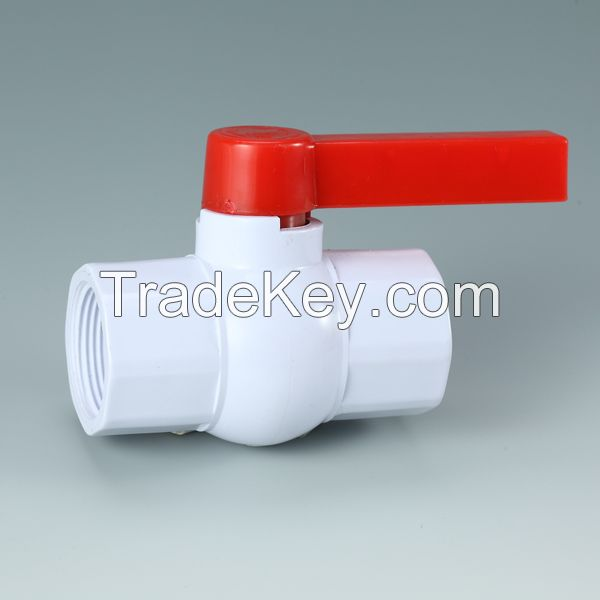 1/2 Inch PVC Ball Valve With NPT Thread Ends And Butterfly Handle