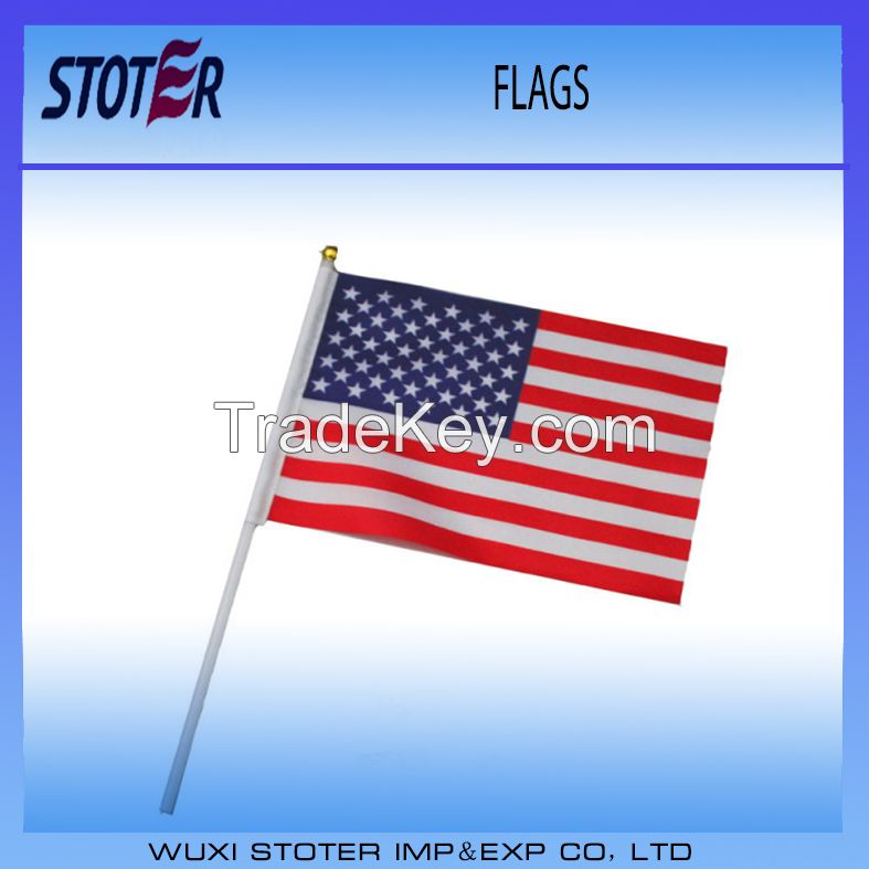 july 4th American USA hand waving flags