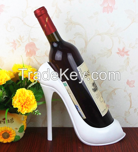 Polyresin Resin High Heel Wine Bottle Holder