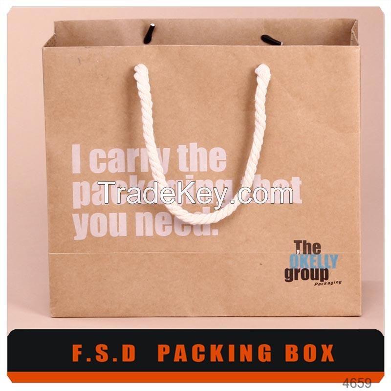 Custom Design Print Gift Bag And Kraft Paper Bag