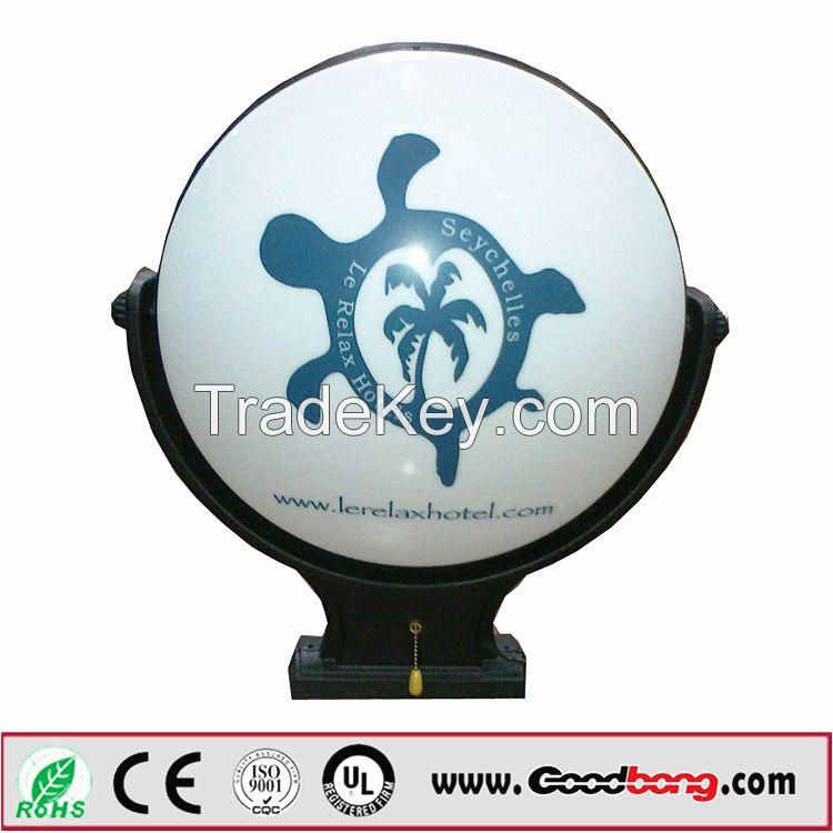 3D Acrylic Formed Mould LED Illuminated Rotating Light Box Sign