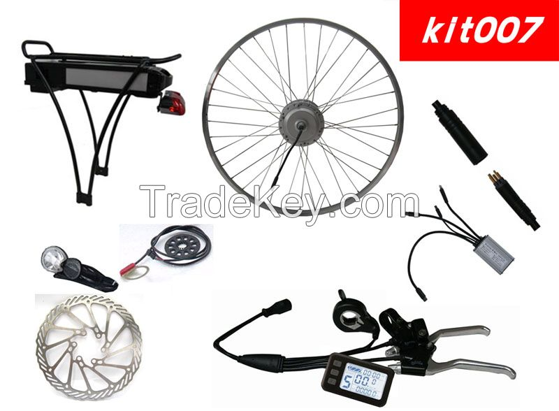 Electric bicycle kits with disc brake and LCD display