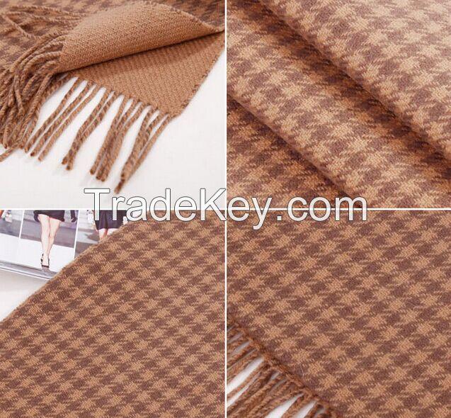 Wool scarf shawl swallow gird hijab scarf with fringe