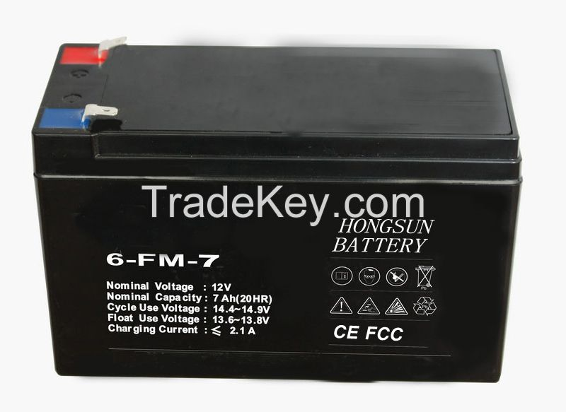 AGM / VRLA / SMF / SLA solar battery 12V 7ah rechargeable backup solar power system battery charger