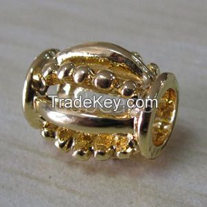 Antique silver metal beads Charms for bracelets pendants