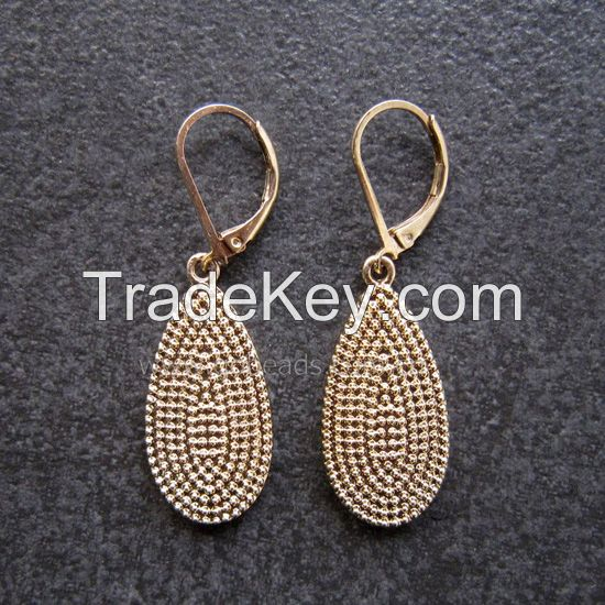 Retro Style brass alloy owls shape hooped earrings