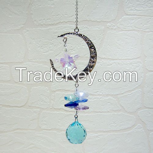 Crystal Glass Ball Hanging Ornament Pendant Suncatcher Home Decor