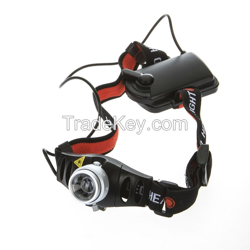 Zoomable Ultra Bright 500 Lumen CREE Q5 LED Headlamp Headlight