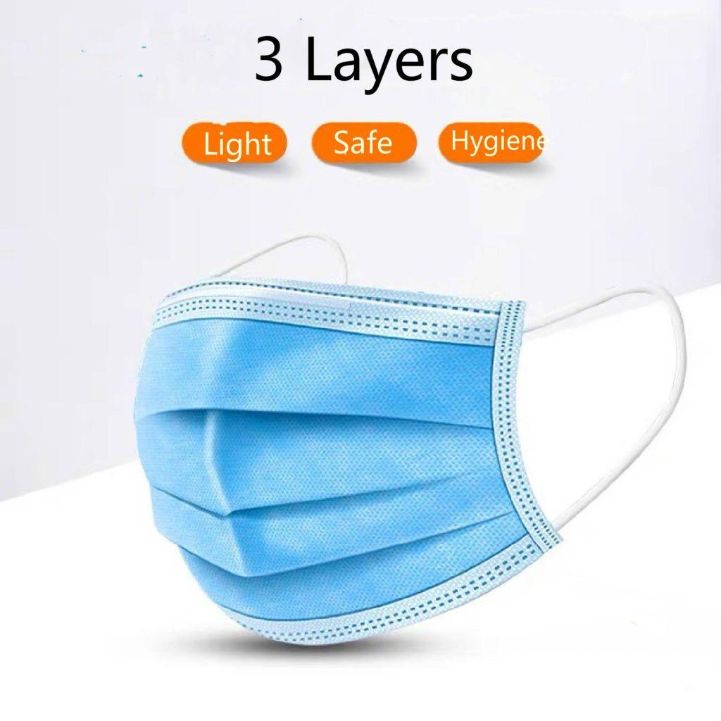 10 Pcs Elastic Ear Loop Disposable Medical Anti Virus Dust Medical Surgical Face Mouth Masks