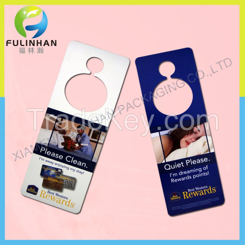High Quality Door Hanger Printing For Hotel