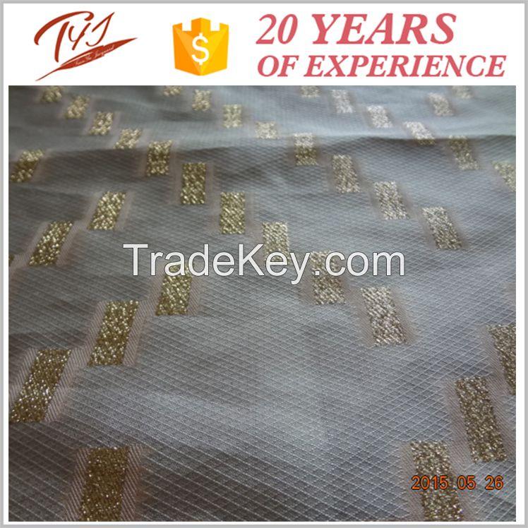 JDJ2778-L Summer season Yarn Dyed Jacquard Fashion Fabric for Women Apparel