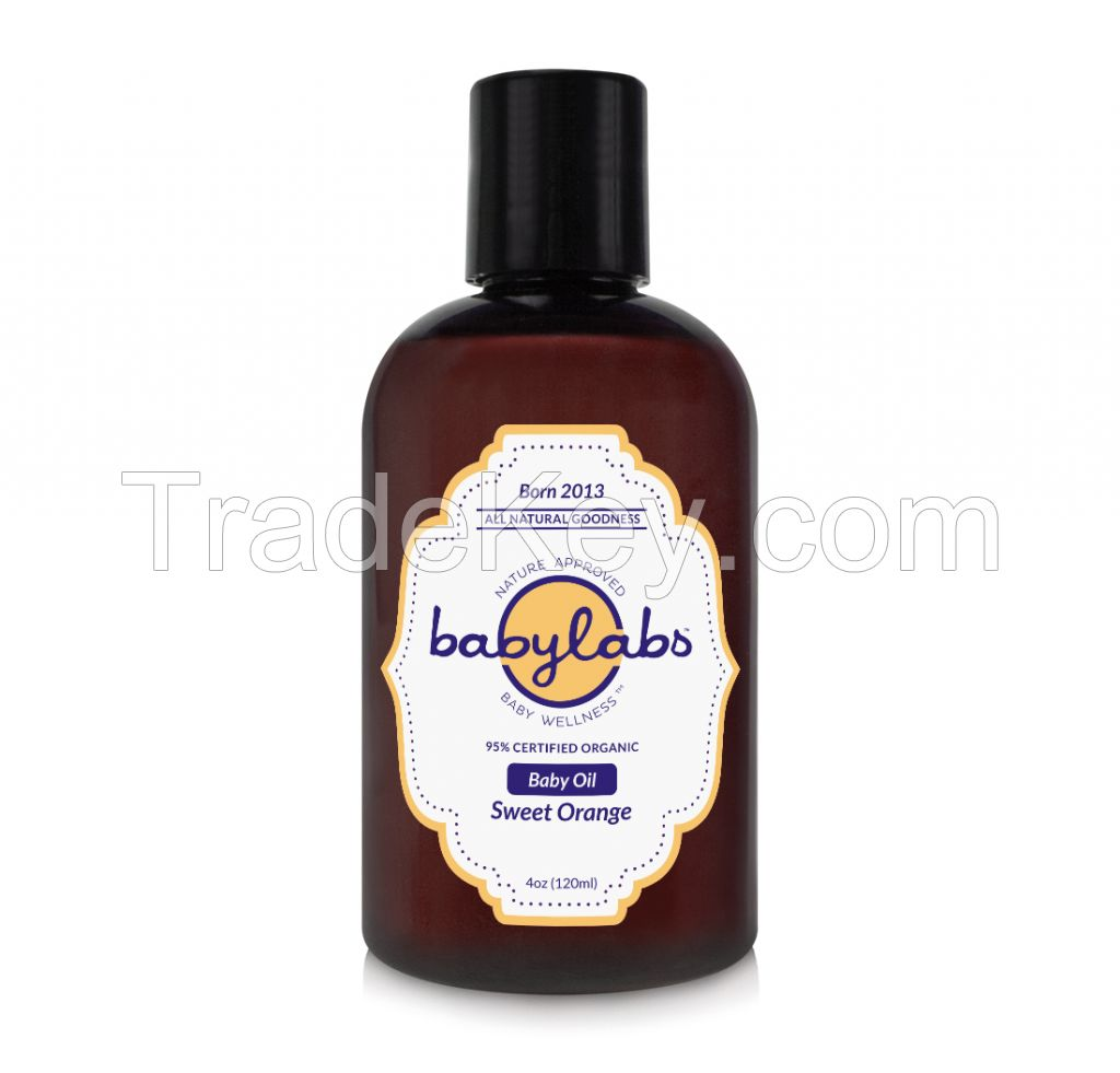 BABY OIL (Organic - Sweet Orange) (4oz) 120ml