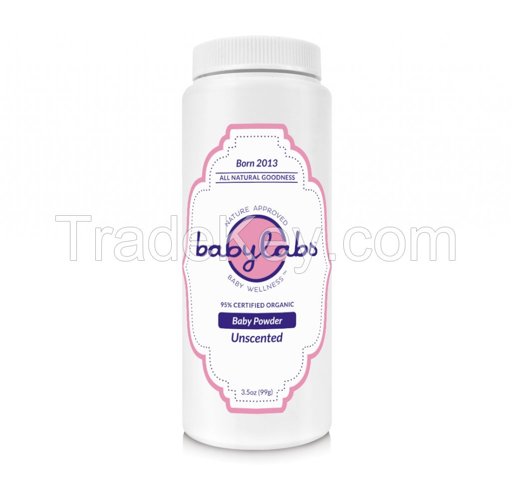 BABY POWDER (Organic - Unscented) (3.5oz) 99g