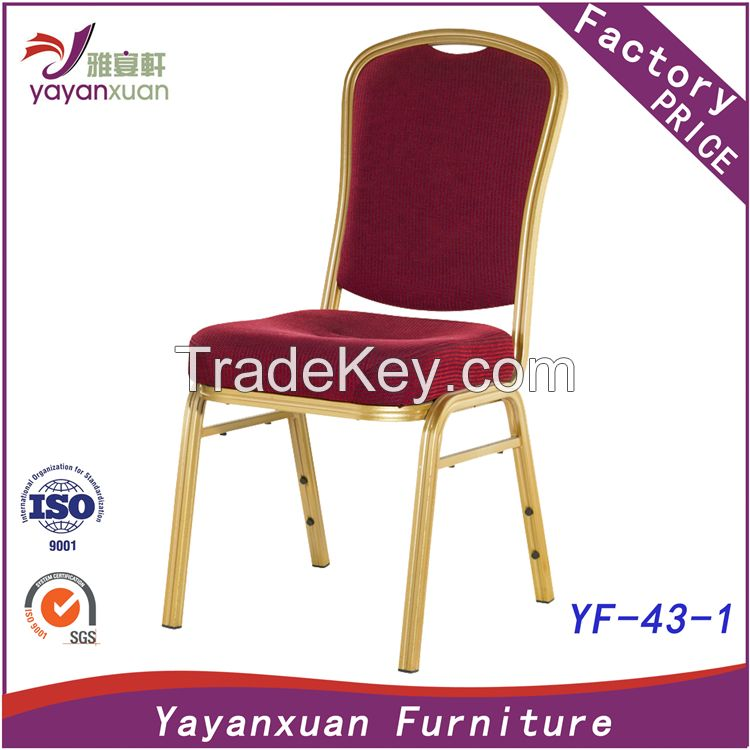 Wedding Metal Stackable Chair with High Quality in Factory (YF-43-1)