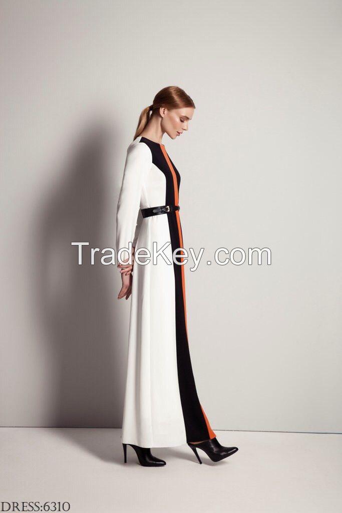2015 new fashion lady white dress